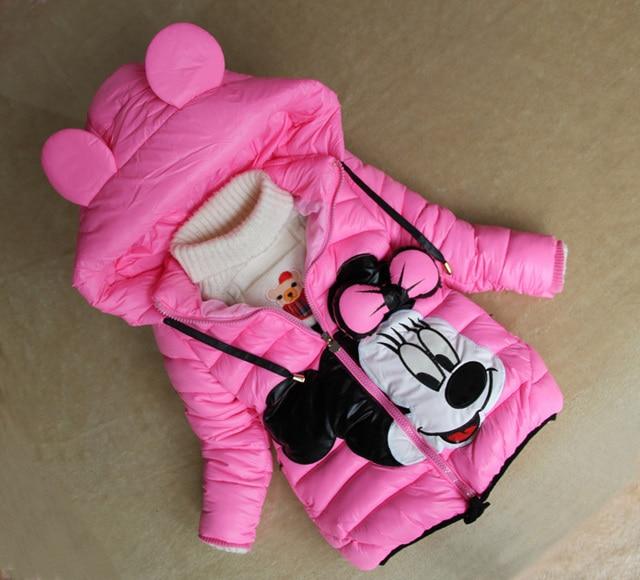 nouveaux styles 1b88e b3144 € 20.58 |Nouveau bébé manteau d'hiver 2015 vêtements enfants cartoon filles  manteau d'hiver minnie mouse bébé enfants vestes dans Vestes et Manteaux ...