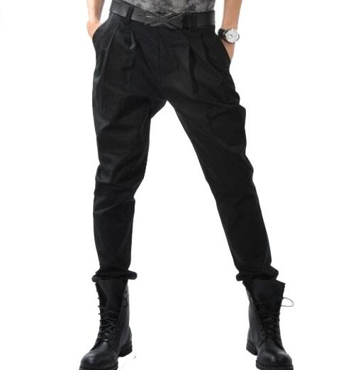 27-44!!! 2018 Big yards mens trou Mens clothing male personality harem pants trousers boot cut jeans casual trousers