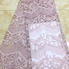 Sequins Lace Fabric 2018 High Quality Lace,African Tulle Lace Fabric Wholesale French Sequins Net La