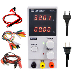 Fuente de alimentación K3010D dc, pantalla de 4 dígitos, reparación, retrabajo, suministro de energía ajustable, interruptor de alimentación lad 30V10A, fuente de alimentación de laboratorio