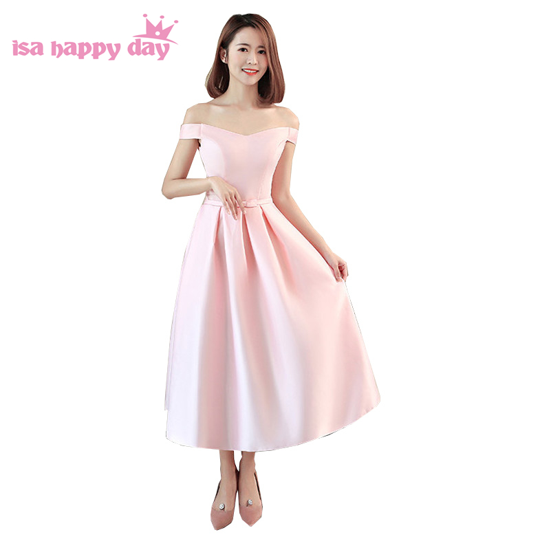 teen short light pink beautiful satin corset ball gown sweet 16 dresses for homecoming formal dress under 50 for girls H4229 day dress