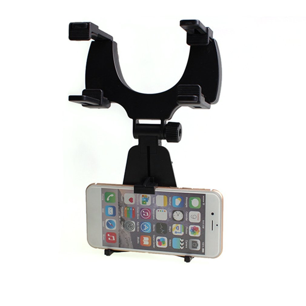Adjustable Mobile Phone Holder Car Auto Rearview Mirror Mount Cell Phone Holder Bracket Stand For Mobile Phone GPS