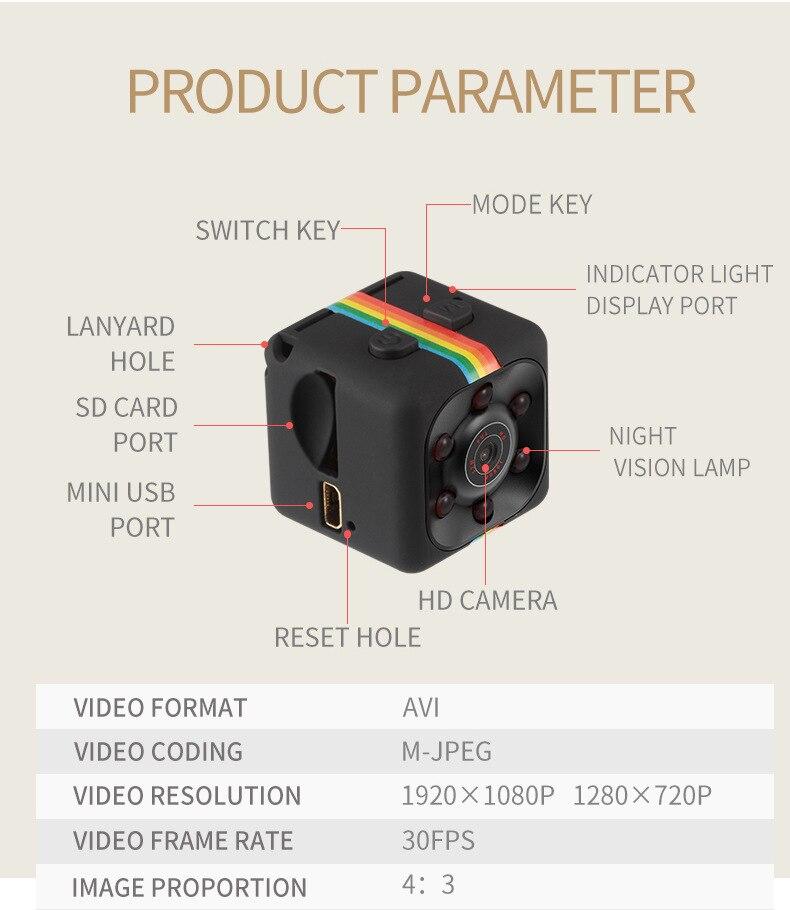 SQ11 HD Camera 1080P Night Vision Camcorder Camera 12MP video Camera DVR DV Motion Recorder Camcorder 14