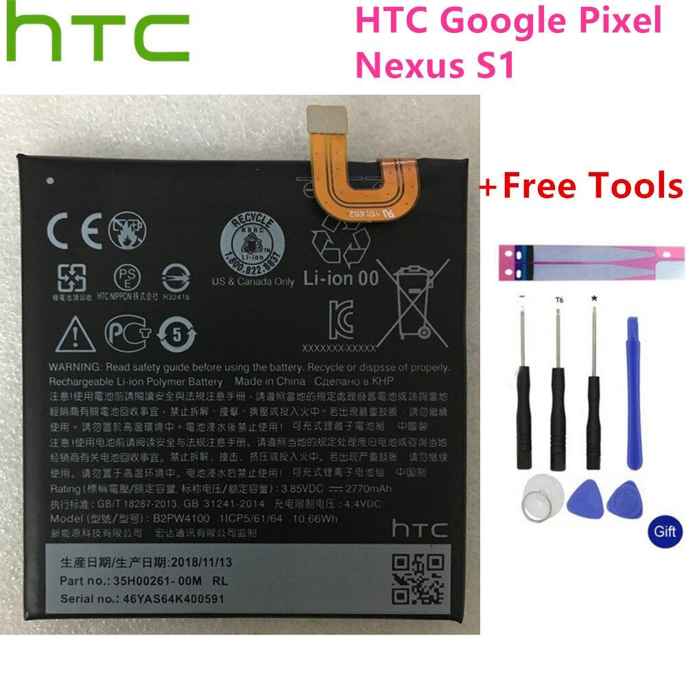 Bateria original da substituição de 2770 mah b2pw4100 para htc google pixel/nexo s1 baterias do polímero do li-íon batteria + ferramentas livres