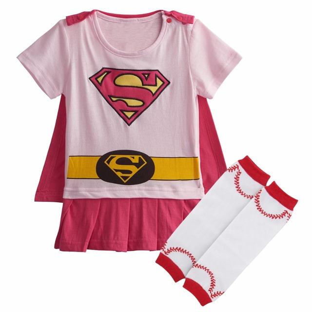 Bébé Fille Super Fille Costume Body Infantile Parti Combishort avec Chaud Jambe bottes Chaussettes Set 0-24 Mois