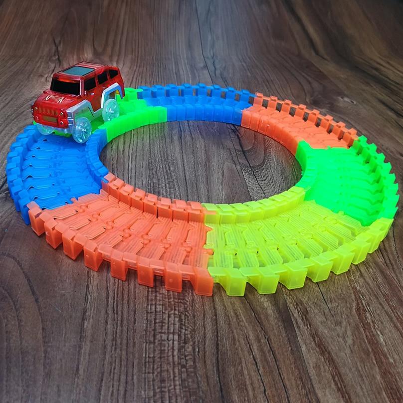 Nuevo Flex Glow Tracks Electric LED Light Up Race Rail Car Roller - Vehículos de juguete para niños - foto 3