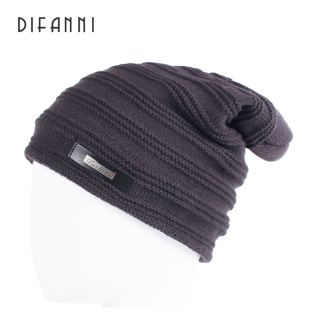 Difanni Skullies Beanies Winter Hat Elastic For Women Warm Hat Fashion Knitting Warm Cap Warm Hat Cap Leisure Fashion Winter Hat skullies
