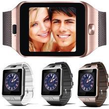 Хорошее Слизняк Смарт часы DZ09 Smartwatch для Для мужчин Для женщин детей с Сим слот для карт нажмите сообщение Bluetooth Подключение телефона Android