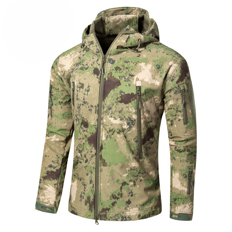 Men's Military Tactical Combat Sport Warm Fleece Hooded Outdoor Adventure Jacket Coats(China)