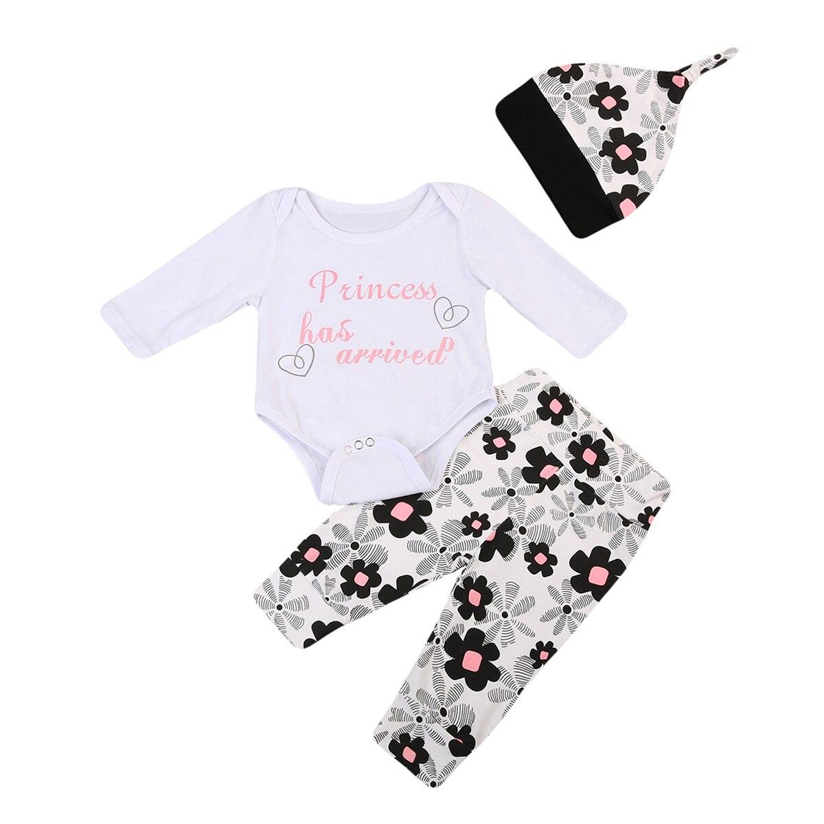 Симпатичные 3 шт. осень-зима новорожденного для маленьких мальчиков наряды для девочек хлопок боди; штаны Леггинсы для женщин шляпа одежда н...