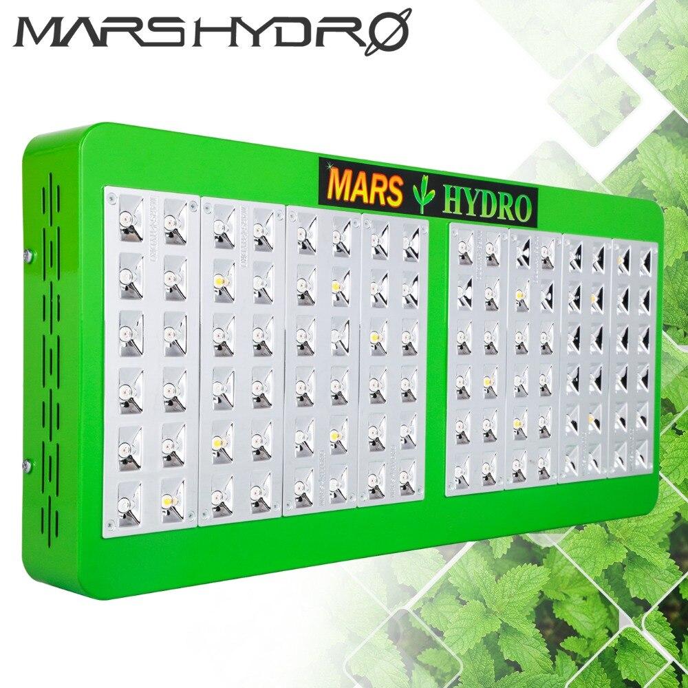 Mars hydro 480 W réflecteur led élèvent la lumière intérieure full spectrum serre hydroponique système usine lampe croissante