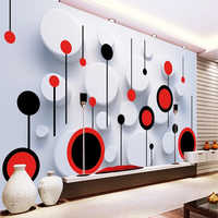 Custom Any Size Murals Wallpaper Modern Fashion Trend Circle 3D Photo Wall Cloth Living Room TV Sofa Home Decor Art Wall Papers