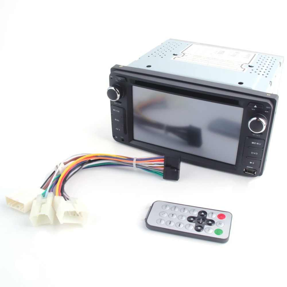 6.2 inch Double Din In-Dash Digital Media DVD Car Display 7 Color Button LED Light Setting for Toyota