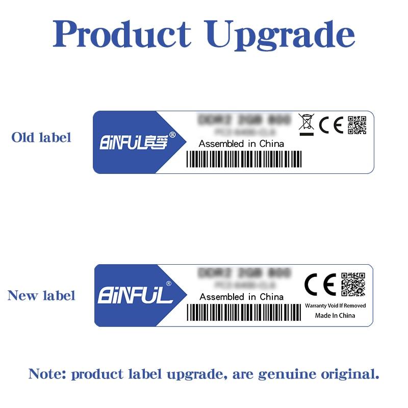 BINFUL Brand New Sealed DDR3 2GB 4GB 1066mhz 1333 1600 PC3-12800 / - Arvuti komponendid - Foto 6