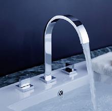 banheiro分割蛇口デッキの取付けダブルハンドル洗面器の蛇口シンクタップ3穴 浴室の蛇口ホットとコールドミキサーtorneira