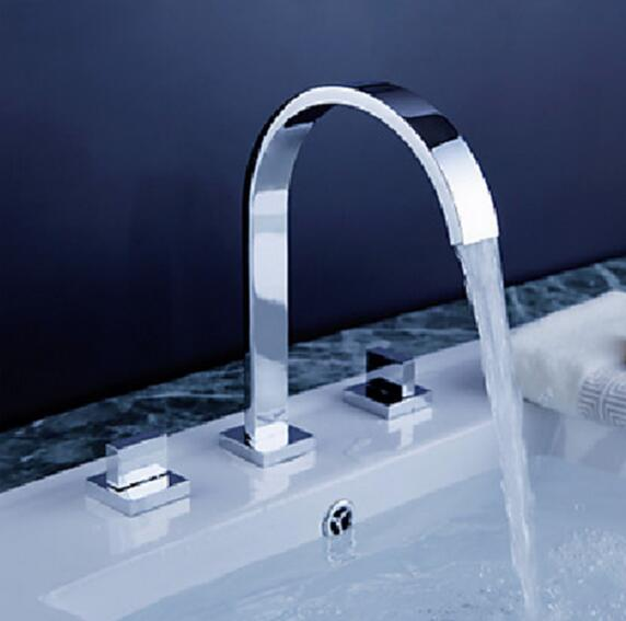 Bathroom Faucet Hot and cold Mixer torneira do banheiro Split Faucet Deck Mounted Double Handle basin Faucet sink Tap 3 hole недорго, оригинальная цена