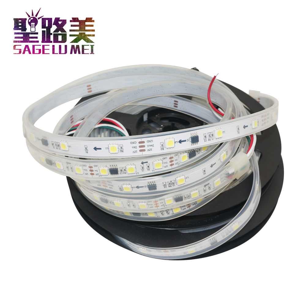 WS2811 5050 RGB LED Strip 1m//5M 150 300Leds Addressable 1IC 3leds DC12V