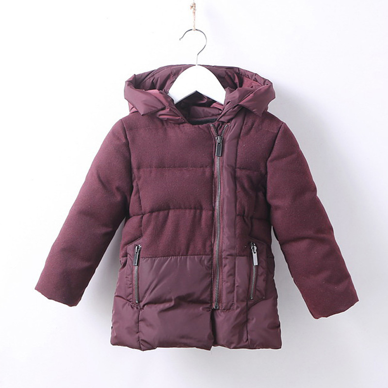Korean Style 2017 Winter Children Jackets for Girls Parka Fleece Hooded Warm Padded Kids Clothing Boys Outerwear Coat DQ702 wendywu new arrival kids parka fleece children thickteenager outwear boys winter jackets warm hooded cotton padded winter coat b