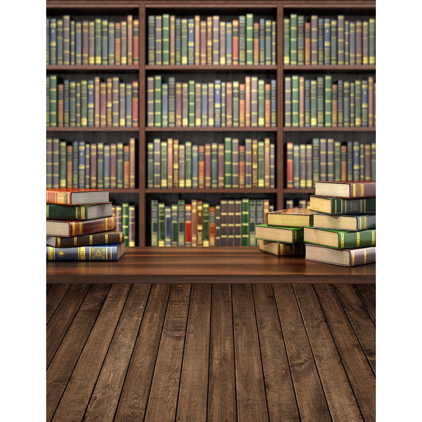 Vinyl Photography Backdrop School library background bookshelf book style Children For photo Studio S-2188 thin vinyl vintage book shelf backdrop book case library book store printed fabric photography background f 2686