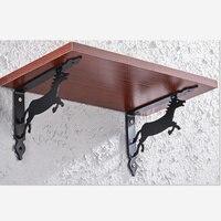 2 шт Настенный Кронштейн Поддержка стола полка Кронштейн прямоугольный Железный скобяные изделия Аксессуары для мебели