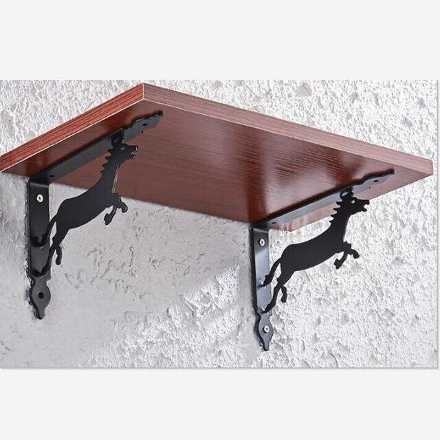 2pcs wall mounted bracket table support shelf bracket right angle