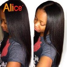 Light Yaki Straight Human Hair Brazilian Virgin U Part Wig For Black Women Middle Part U Part Wigs Natural Color UPart Wigs