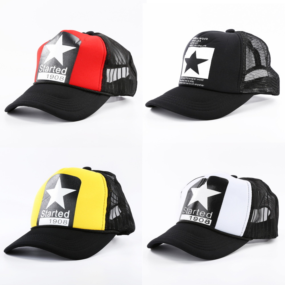Men Adjustable   Baseball     Cap   Star Pattern Fashion Women Hats Breathable Mesh Hat Unisex Suncreen Sport   Caps   Drop Shipping