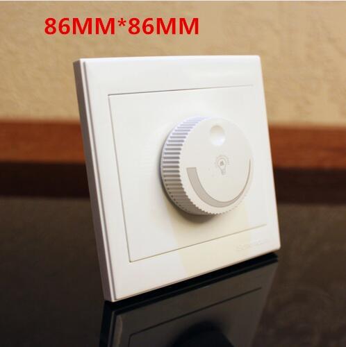 220V 200W Rotary Knob Brightness Controller Light Bulb Lamp Dimmer Control Switch 86*86mm
