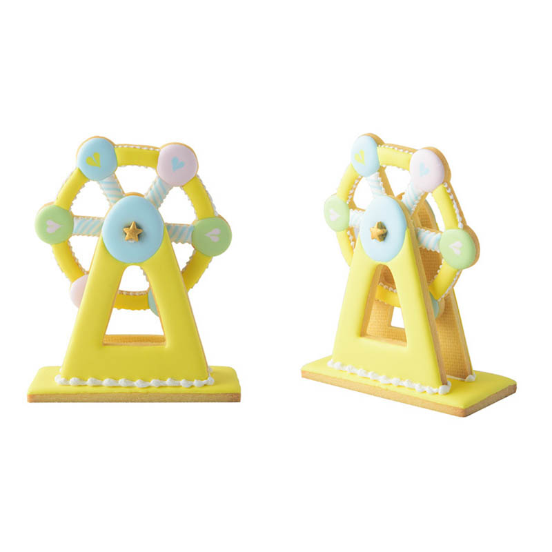 Image 4 - 3PCS  Bakeware Ferris Wheel Shaped Cake Tools  Plastic  Fondant Biscuit Mold Baking Mould Cookie Cutter  Kitchen Gadgets-in Cake Molds from Home & Garden