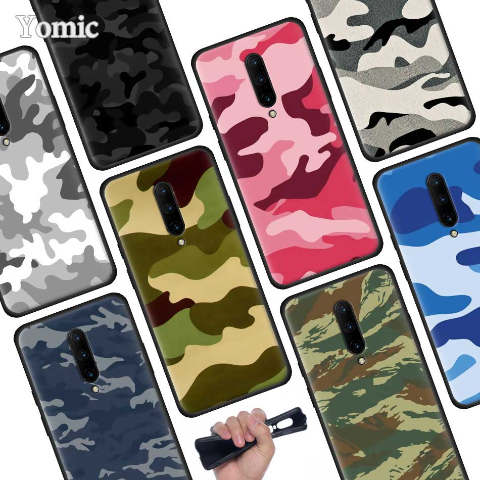 Camouflage Camo military Black Soft Case for font b Oneplus b font font b 7 b
