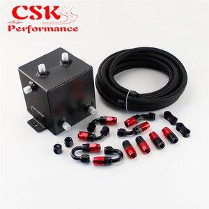 Image 3 - 2 Litre cilalı komple yakıt dalgalanma tankı girdap Pot sistemi W/yağ hortumu + parçaları