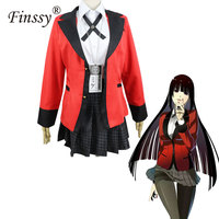 Anime Kakegurui Yumeko Jabami Cosplay Costumes Japanese School Girls Uniform Full Set jacket shirt skirt stockings tie