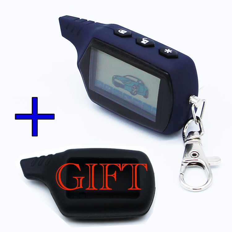 Free Shipping A91 LCD remote controller for 2 way car alarm starline 91 engine starter starline A91 fob keychain/lcd body remote