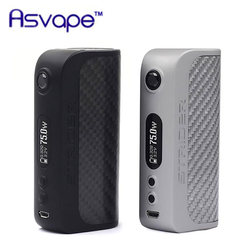 Original Asvape Strider VO75 TC Box MOD 75W Strider Mod with American VO75 chip support BYPASS/Power/VPC/TC Modes electronic cig vaio vpc eh2m1r w купить