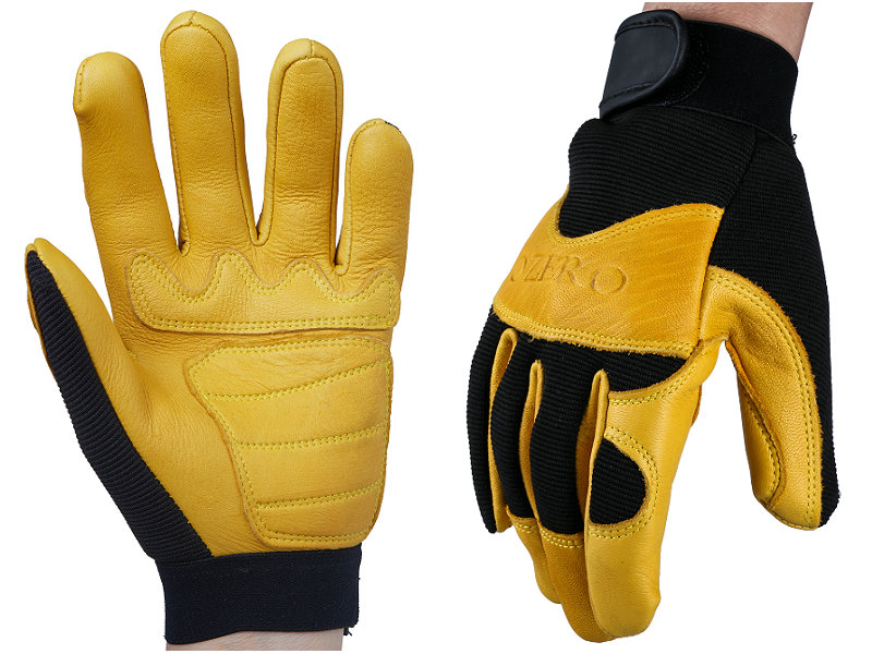 Safety Gloves Deerskin Men's Work Driver Gloves Leather Security Protection Safety Workers Working Racing Moto Gloves 2pairs nylon black antistatic work gloves knit working gardening lumbering hand safety security protector grip white