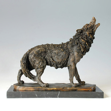 ATLIE BRONZES Western Styles antiques  Howling wild Wolf Bronze Statue animal sculpture signed by Milo алтэя масло черного тмина 100 мл