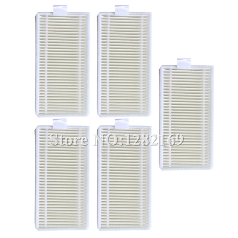 5 pieces Robot HEPA Filter for QQ6 robotic Vacuum Cleaner Parts Accessory robot vacuum cleaner for home hepa filter sensor automatic vacuum cleaner household intelligent robotic vacuum cleaner krv205