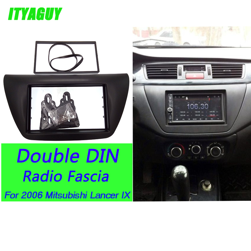 ITYAGUY Double 2 Din Voiture Radio Fascia pour 2006 Mitsubishi Lancer IX DVD Lecteur Garniture Installation Kit Plaque Cadre