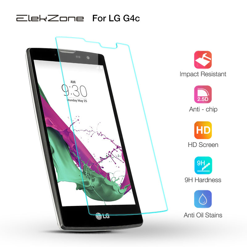 ElekZone 9H Screen Protector For LG G6 Q6 Xpower 2 Protection Film For LG V10 G2 G3 G4 Mini G4C Magna Nexus 5 5X Tempered Glass