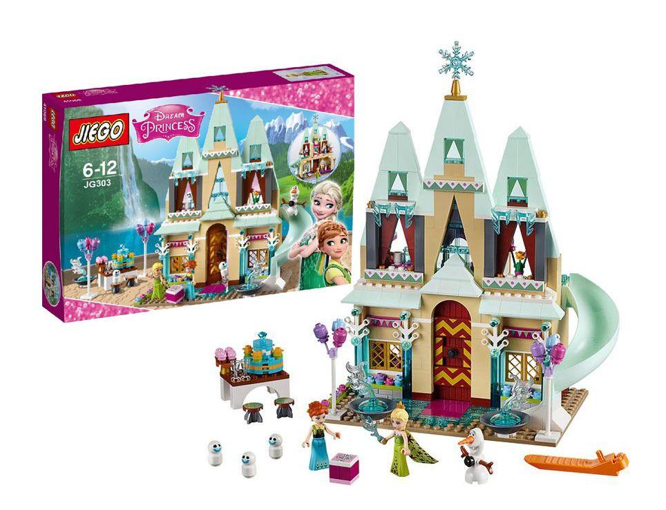 519pcs Arendelle Castle Building Blocks Model Set Princess Anna Elsa Minifigures Christmas gift Figures Compatible font