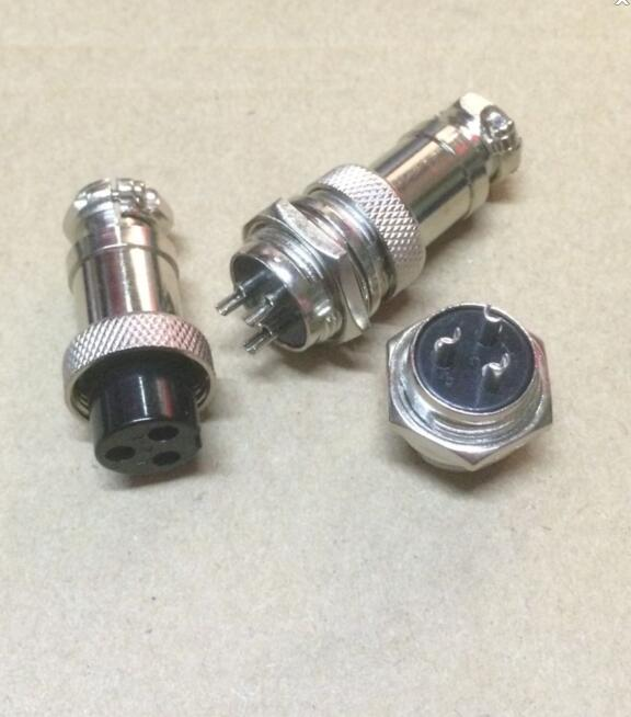 10Pair/Lot <font><b>GX16</b></font>-3 <font><b>GX16</b></font> <font><b>3Pin</b></font> 3P 16MM Male & Female Wire Panel Connector Circular Aviation Connector Socket Plug image