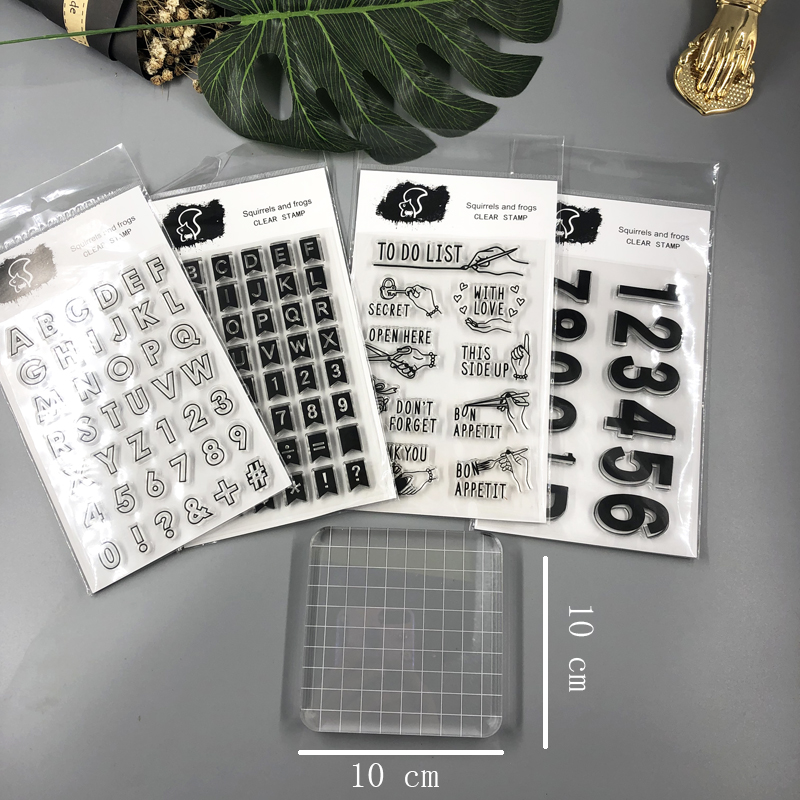 Fromthenon Planner Stamps Number Alphabet Transparent Silicone Clear Stamps Set Scrapbooking Diy Accessories School Stationery