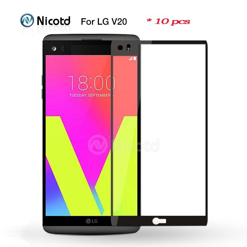 bilder für Nicotd 10 teile/los colorful cover gehärtetem glas für lg v20 explosionsgeschützte schutzfolie für lg k10 screen protector