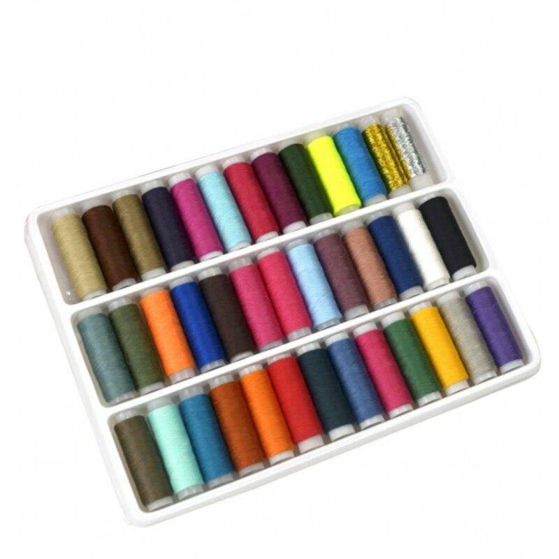 marrón y crema familia Colores Paquete De 10 Bobinas Luna poliéster Hilo de coser