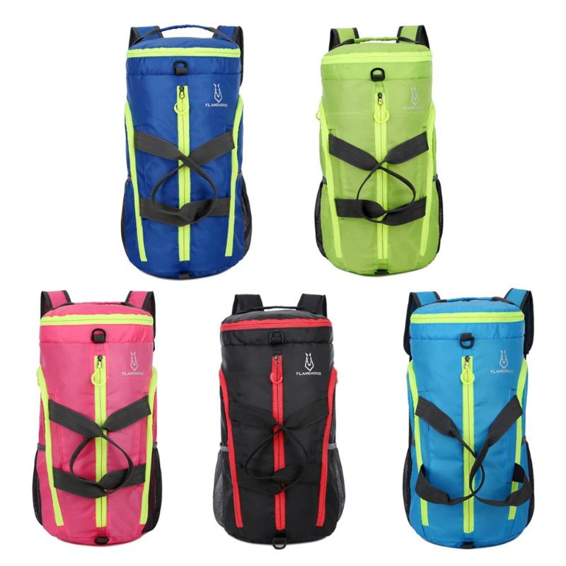 Professional Multifunctional Lightweight Shoulder Bag Travel Camping Hiking Climbing Folding Backpack Unisex Sport Outdoor Bags multifunctional professional handle pulley roller gear outdoor rock climbing tyrolean traverse crossing weight carriage fit