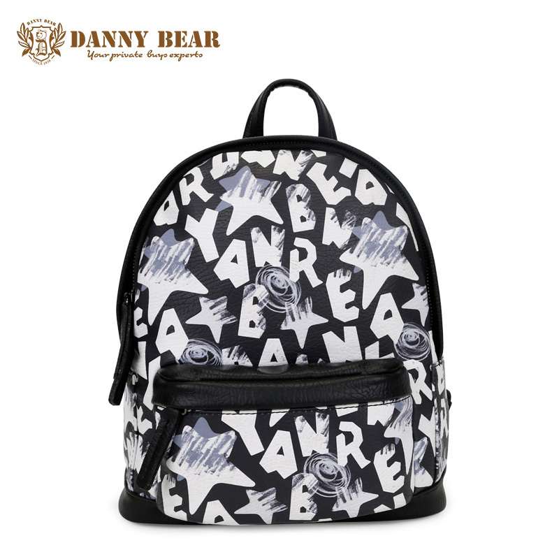 DANNY BEAR Cute Backpacks For Teenager Girls Women Cheap Leather School Backpack Fashion Vintage Travel Back Pack Bags mochila zooler women s backpack eyes sequined designer black cartoon eyes backpacks travel bag cute shell backpacks for teenager girls