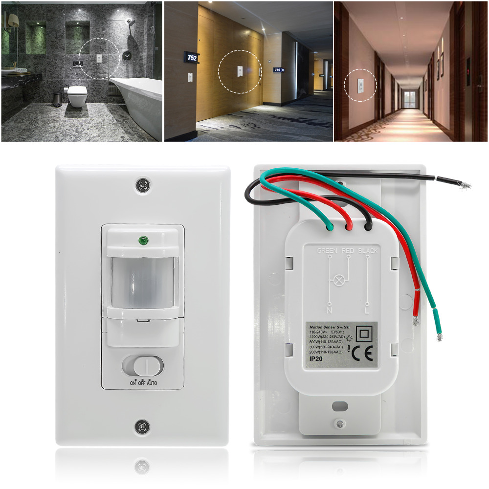 110v 220v Ac On Off Auto Wall Mount Motion Sensor Switch Automatic Wiring Lights In Series Pir Infrared Light With Control Switches From