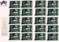 AC220V интеллектуальный цифровой РФ беспроводной пульт дистанционного управления системы и 20 штук приемник для проекционный экран/двери гара
