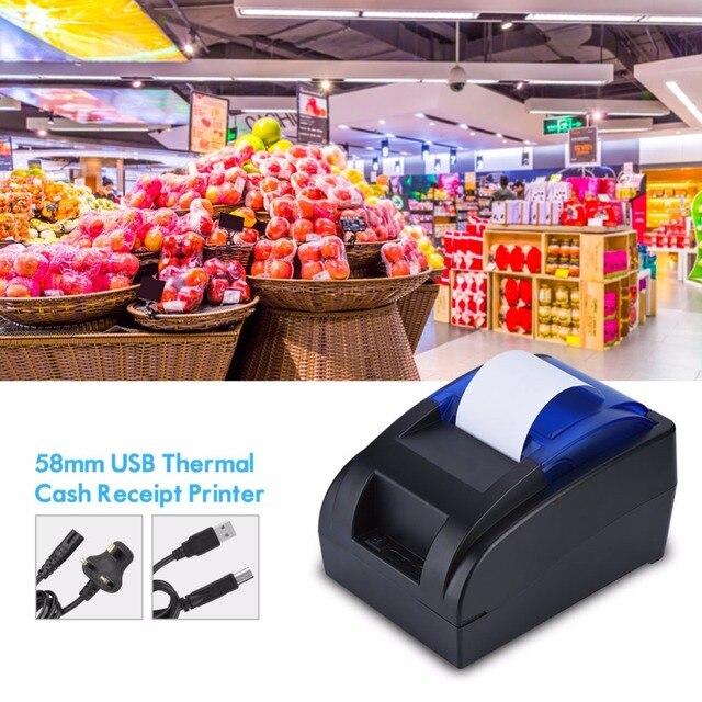 58 MM USB impresora térmica portátil inalámbrico máquina recibo impresora termica para Windows Android iOS