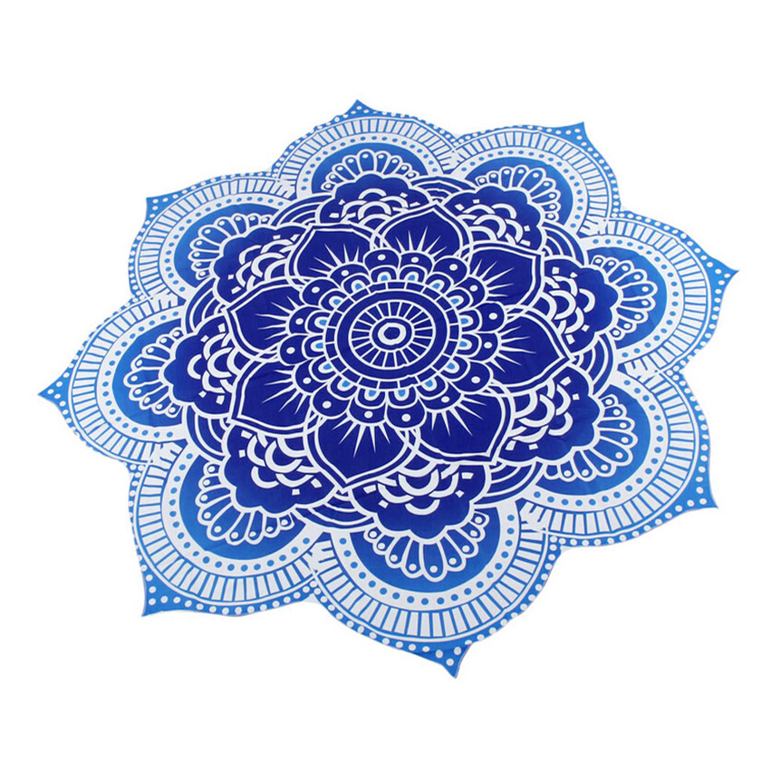 Happy Sales hot selling best quality Round Beach Pool Home Shower Towel Blanket Table Cloth Mat Toilette Jul13